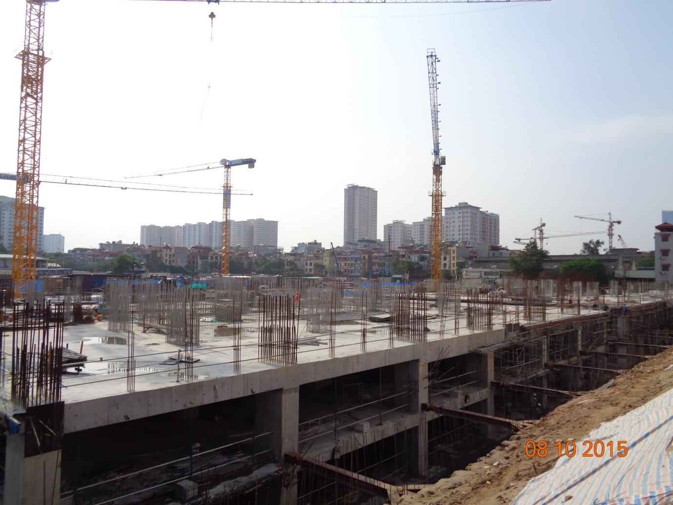 Cập nhật tiến độ thi công tháp A & B dự án Imperia Garden – Ngày 08.10.2015
